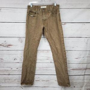 GAP selvedge denim brown straight jeans